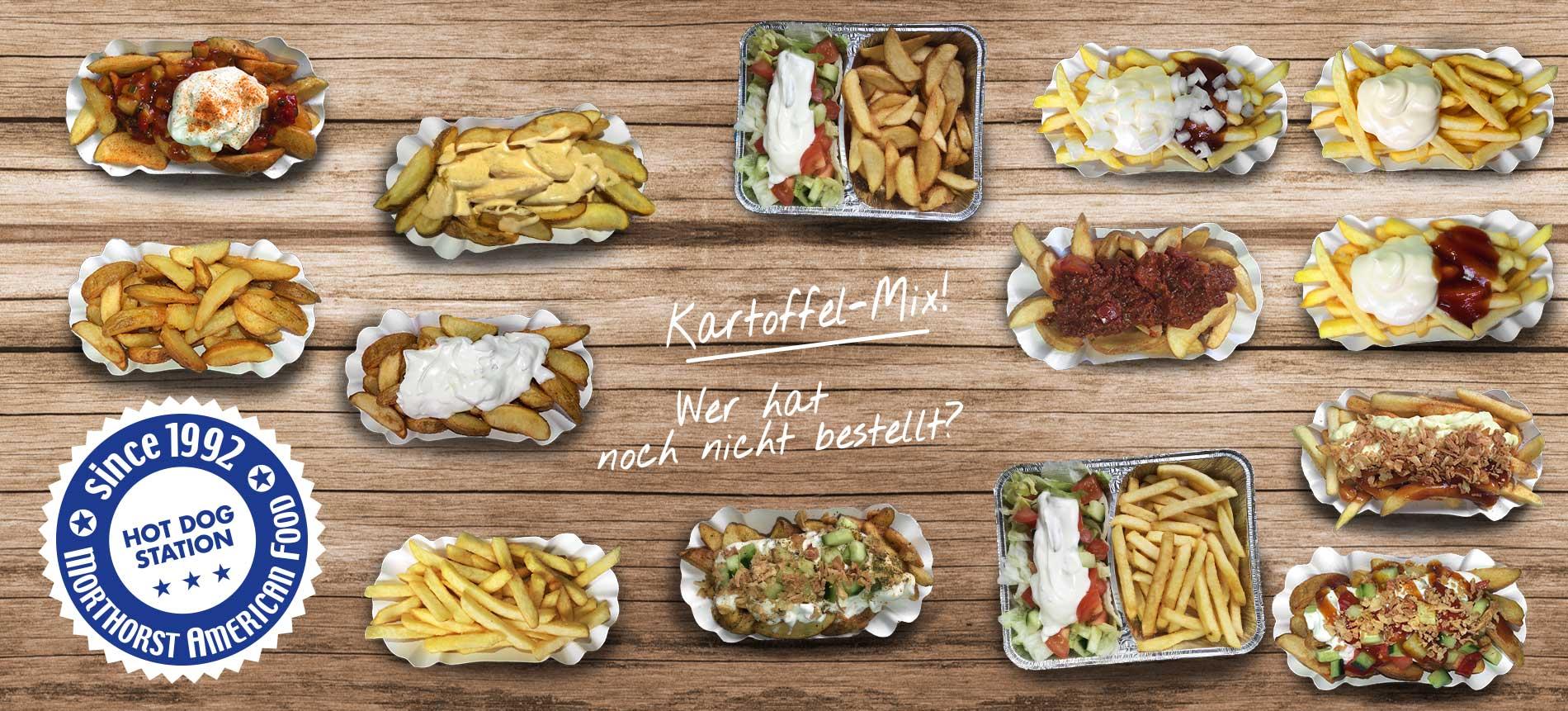 Hot Dog Station Kartoffeln